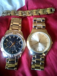 2 STAINLESS STEEL/WATCHES WITH MATCHING BRACELET