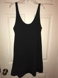 Express black tank top w sequined bottom Med