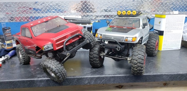 Used Two Red And Gray Monster Truck Rc Toys For Sale In Zeigler Letgo