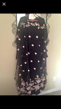 black and white floral long-sleeved dress Edmonton, T5Y