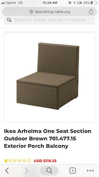 Seat outdoor Highlands Ranch, 80129