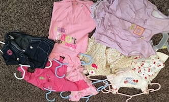 Newborn girl clothes and accessories