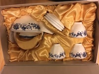 Brand new Chinese teapot and cup set