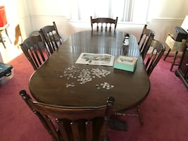 REDUCED DINING ROOM FURNITURE  $250. HUTCH.  $250. TABLE/CHAIRS