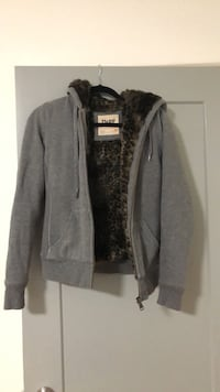 TNA XS grey and leopard hoodie New Westminster, V3L 1M3