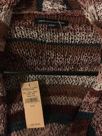 brown and white American Eagle cardigan Round Lake, 60073