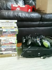 Xbox original with game controllers  Knoxville, 37922