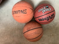 Three basketballs used. Ashburn, 20148