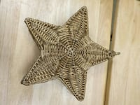 Gold star wall decor