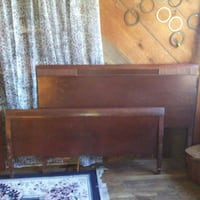 brown wooden bed headboard and footboard Pasadena, 77506