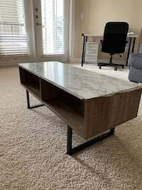 Coffee table with marble stickers