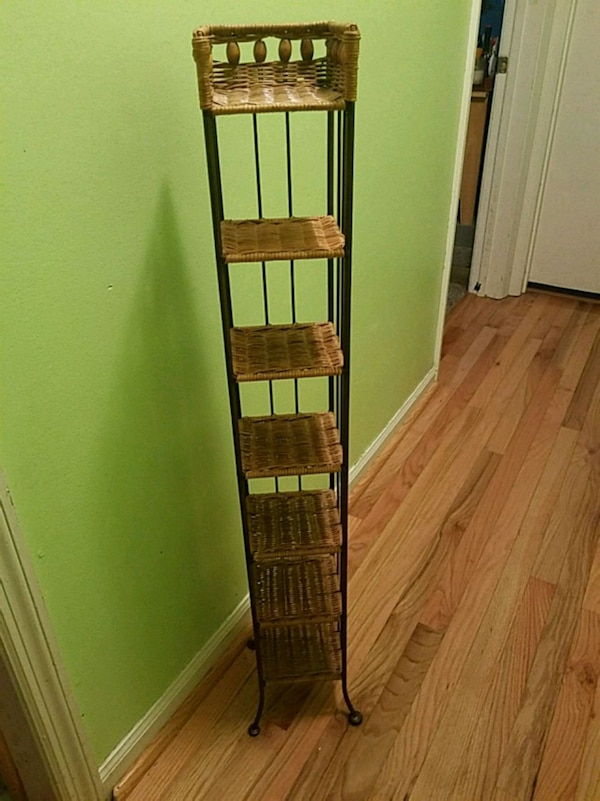 Wicker and metal stand