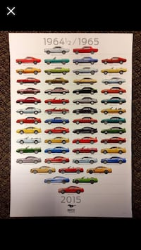 5 Collectible Ford Mustang Posters Toronto, M6E 2M5