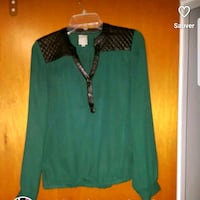 women's green and black long sleeve dress Laval, H7R 5L6