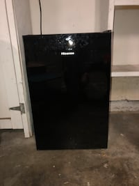 black and gray single-door refrigerator 2382 mi