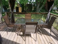 rectangular glass top table with four chairs patio set Hamilton, L9A 4G4