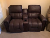 two black leather recliner chairs New York, 11218