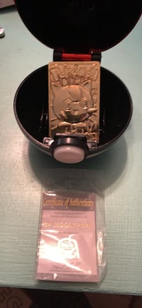 #39 Vintage Jigglypuff 23K gold plated limited edition trading card