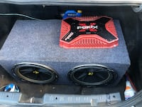 black Kicker subwoofer with enclosure Manassas, 20111