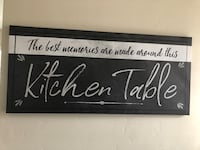 Kitchen Table Sign