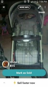 baby's gray and black stroller screenshot Midland, 48642