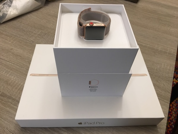 White apple watch with box