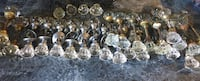 Antique glass door knobs, only a few sets left!