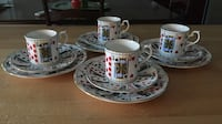 Stanfordshire bone china demitasse espresso set Patchogue, 11772