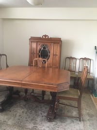 brown wooden dining table set Markham, L3T 3X2