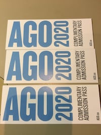 AGO General Admission tix - use before Dec 20 Toronto, M6K 3H5