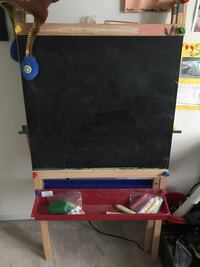 Black and brown wooden kids easel Alexandria, 22312