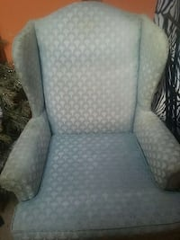 gray suede wing chair Beltsville, 20705