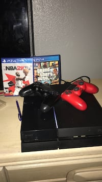 Black sony ps4 console with controller and 2k18 and gta5 other old games if you want them for free Port Saint Lucie, 34953