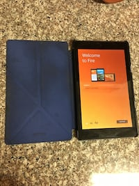 Kindle fire with blue case Spring, 77373