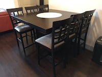 rectangular brown wooden table with six chairs dining set Houston, 77063