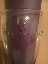Strongbow beer glass (embossed clear) Sherwood Park, T8A 5V2