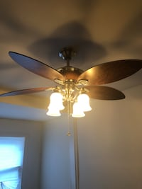 brown 5-blade ceiling fan with light fixture Washington, 20011