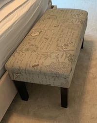 Brown and black floral bedside bench Vienna, 22180