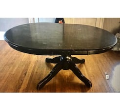 Pier one black oval table