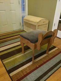 Wood Bench with storage space