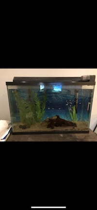 brown wooden framed fish tank Los Angeles, 91343