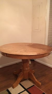 """Round Wood Table 42"""""""