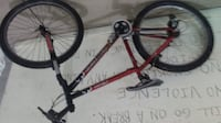 red and black mountain bike null