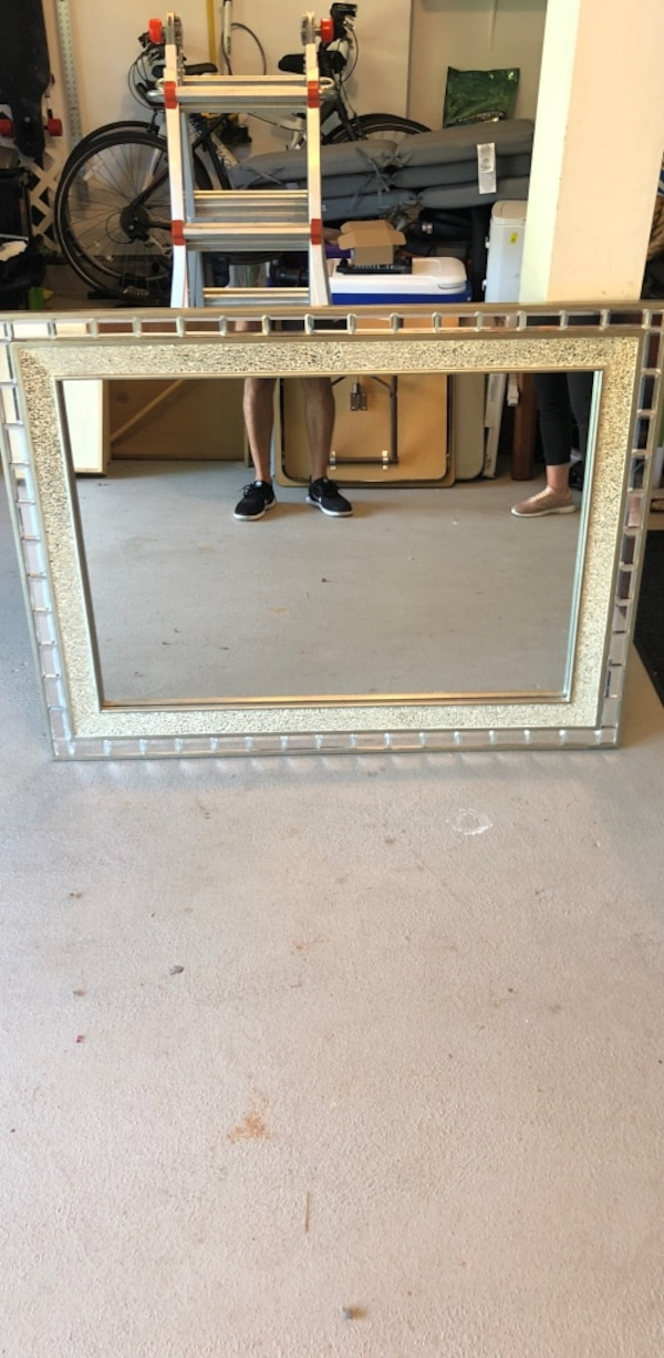 framed wall mirrored mirror 4x3