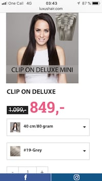 CLIP ON DELUXE HAIREXTENTION