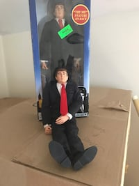 "Donald Trump rare figure 12"" talking doll over 14 years old. $40 for both. One new in box and one opened."