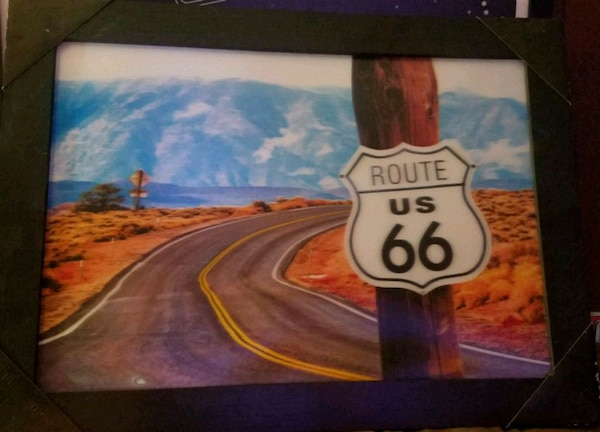 3D Texas Route 66 Picture - Framed