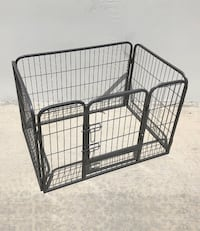 "New $50 Heavy Duty 37""x25""x24"" Pet Playpen Dog Crate Kennel Exercise Cage Fence, 4-Panels Play Pen South El Monte"