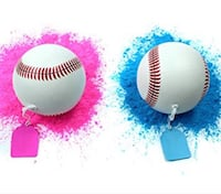 2 Pack Gender Reveal Exploding Baseball Set - (1 Pink & 1 Blue) for Sex Reveal Party, Loaded with More Powder! by Par-T Toronto, M9A 4Y3