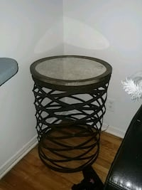 round brown wooden side table 792 km